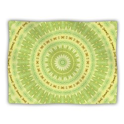 "Kess InHouse Iris Lehnhardt ""Wheel of Spring Circle Green"" Blanket, 60 by 50-Inch"