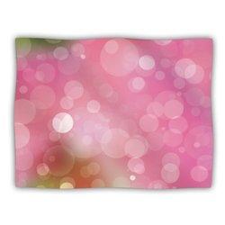 """Kess InHouse KESS Original """"Gypsy"""" Pink Bokeh Fleece Blanket, 60 by 50-Inch"""