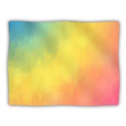 """Kess InHouse Fotios Pavlopoulos """"Watercolor Layers Rainbow"""" Blanket, 60 by 50-Inch"""