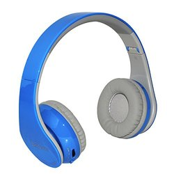 Beyution Bluetooth On-Ear Headphones w/ Mic - Blue (BT513-Blue-beyution)