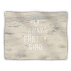 """Kess InHouse Catherine McDonald """"Fly Away Pretty Bird"""" Blanket, 60 by 50-Inch"""