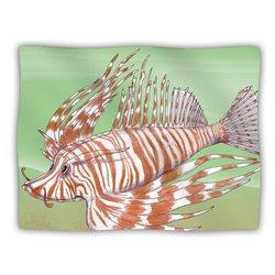 "Kess InHouse Catherine Holcombe ""Fish Manchu"" Blanket, 60 by 50-Inch"