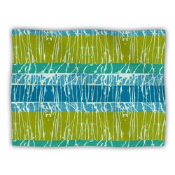 "Kess InHouse Nina May ""Ocean Splatter"" Blue Teal Fleece Blanket"