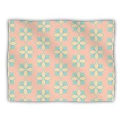 "Kess InHouse Deepti Munshaw ""Pattern No.1 Green Beige"" Blanket, 60 by 50-Inch"