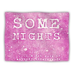 "Kess InHouse Monika Strigel ""Some Nights"" Fleece Blanket, 60 by 50-Inch"