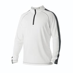 Men's DeMarini 10th Inning 1/2 Zip Sweatshirt - White - Size: 2XL