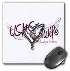8 x 8 x 0.25 Inches Mouse Pad, USMC Wife Always Faithful (mp_123048_1)