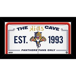 "NHL Florida Panthers Kids Cave Sign, White, 10"" x 20"""