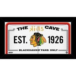 "NHL Chicago Blackhawks Kids Cave Sign, White, 10"" x 20"""