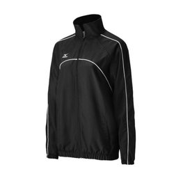 Mizuno Women's Team V Warm Up Jacket, Black, XX-Small