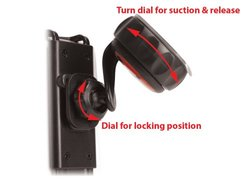 Cellet Phone and PDA Holder with Extra Large Suction Cup