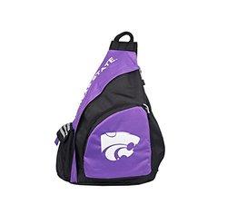 NCAA Kansas State Wildcats Leadoff Sling Backpack - 20-Inch - Black