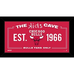 "NBA Chicago Bulls Kids Cave Sign - Red - Size: 10"" x 20"""