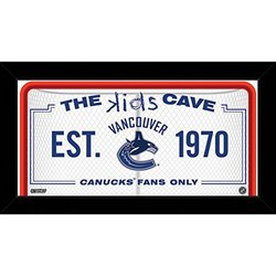 """NHL Vancouver Canucks Kids Cave Sign, White, 10"""" x 20"""""""