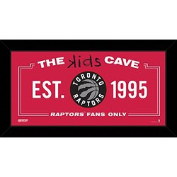 "Steiner Sports NBA Toronto Raptors Kids Cave Sign - Red - Size: 10"" x 20"""