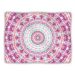 "Kess InHouse Iris Lehnhardt ""Happy Circle Pink"" Blanket, 60 by 50-Inch"