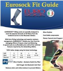 Eurosocks 0809 Silver DryStat Trekking Medium Weight Boot Socks, Beige, Medium