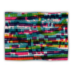 """Kess InHouse Frederic Levy-Hadida """"Squares Traffic Pastel"""" Blanket, 60 by 50-Inch"""