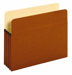 Globe Weis Redrope Expanding File Pockets Expansion - 25 Count