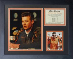 Legends Never Die Mike Gundy OSU Coach Framed Photo Collage - 11 x 14""