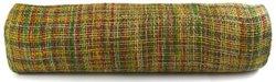 Kel-Toy Mixed Color Jute Burlap Ribbon Roll, 18-Inch by 10-Yard, Green/Burgundy/Yellow