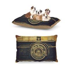 "Kess InHouse Robin Dickinson ""Discarded Treasure"" Vintage Camera Dog Bed"