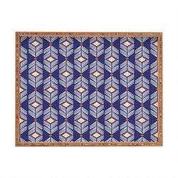 DENY Designs Andrea Victoria Tribu Pattern Indoor/Outdoor Rectangular Tray, 17 x 22.5