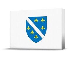 Finest Flags Bosnia and Herzegovina Premium Canvas Art Print