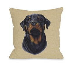 "Bentin Pet D_cor ""Rottweiler Head"" Pillow, 20 by 20-Inch"