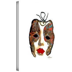 "ArtWall 18""x24"" Venetian Mask II Canvas Artwork by Linda Parker"