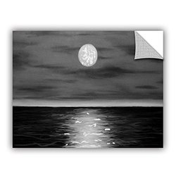 ArtWall Jim Morana 'Moon Rising' Removable Graphic Wall Art, 24 by 32-Inch