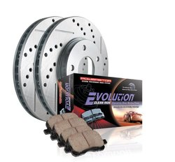 Power Stop Front Brake Pad/Cross Drilled/Slotted Combo Rotor Brake Kit