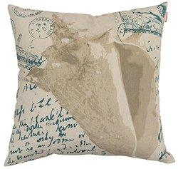 "Artistic Linen Coastal Post Linen Decorative Pillow, 18 x 18"", Multicolor"