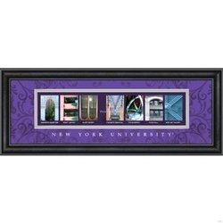 Prints Charming Letter Art Framed Print, New York University-New York, Bold Color Border