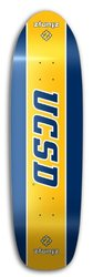 "ZtuntZ UC San Diego Skateboard Deck - 8.50x32""/14.5"" - Blue/Gold"