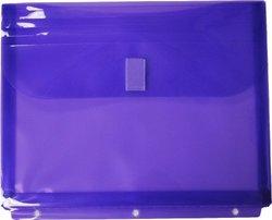 Filexec Poly Envelope Letter Side-load Velcro Closure - Purple (12-Pack)