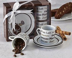 "Artisano Designs ""Euro Cafe"" Espresso Coffee Cup Set"