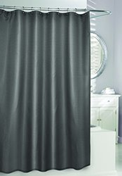 Moda at Home 204310 Waffle Fabric Shower Curtain, Grey