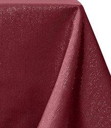 "Benson Mills Dazzle Metallic Tablecloth - Multi Red - 60""X104"""
