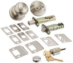 Weslock 02109--ZNSL2D Lexington/Oval Interior Entry Handle, Satin Nickel
