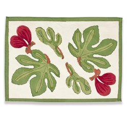 Couleur Nature Fig Red/Green Mat 15-inches by 18-inches