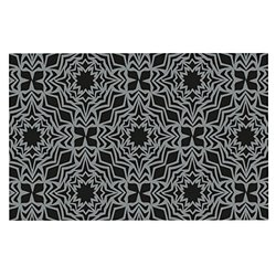 "18x13"" Miranda Mol Optical Fest Feeding Mat for Pet Bowl - Black/Grey"