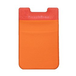 Dreamtex Home Poucharoo Stick-On Wallet for Smartphone (3 Pack), Orange