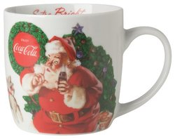 Coca-Cola Presented by Now Designs Vintage Santa Mug