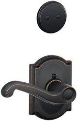 Schlage Lock Right Handed Dummy Interior Pack with Deadbolt - Satin Nickel