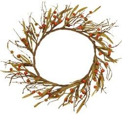 Your Hearts Delight Primitive Pumpkins Wreath, 16-Inch