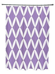 Ebydesign Geometric Shower Curtain - Heather