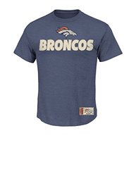 NFL Men's Short Posted Victory IV Crew Neck Tee - Navy Heather - Sz: Large