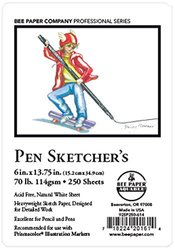 "Bee Paper Pen Sketch Pack, 6""-13.75"", 250 sheets per pack"