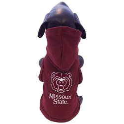 NCAA Missouri State Cotton Lycra Hooded Dog Shirt, Small